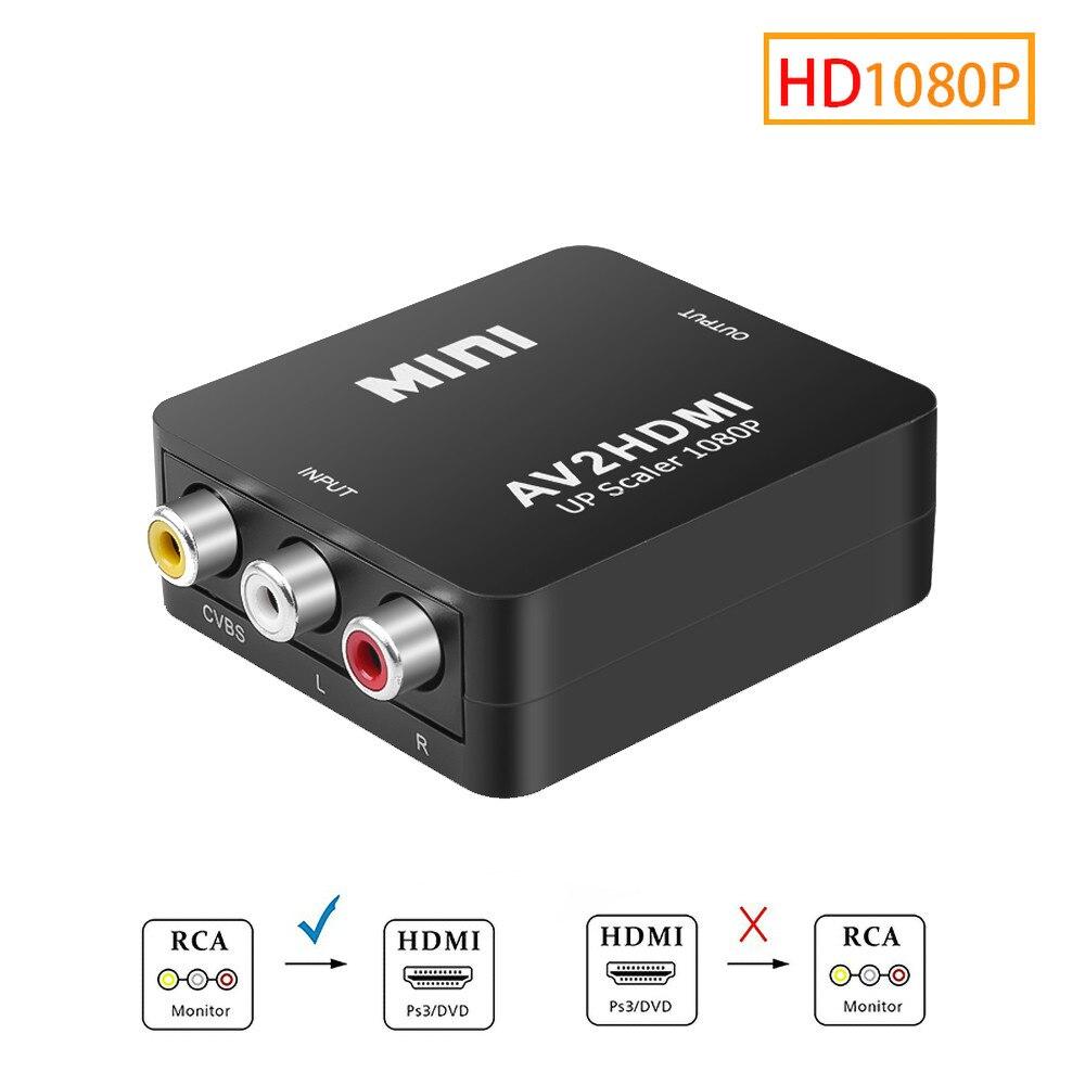 Kebidu Full HD 1080P RCA AV конвертер «Папа-мама» Mini Composite CVBS к AV-HDMI-совместимый аудиоконвертер высокого качества