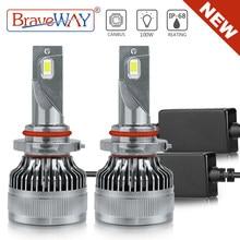 BraveWAY [nouveau!] Super H4 phare LED H7 LED Canbus H11 HB3 HB4 9005 9006 H1 ampoules de voiture antibrouillard 12V 100W 6000K 20000LM lampes