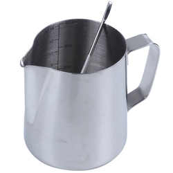 Dzbanek do mleka  350Ml ręczny zabielacz do kawy dzbanek do spieniania mleka dzbanek kubek ze znakiem pomiarowym i latte art Pen  dzbanek na mleko dzbanki w Dzbanki na mleko od Dom i ogród na