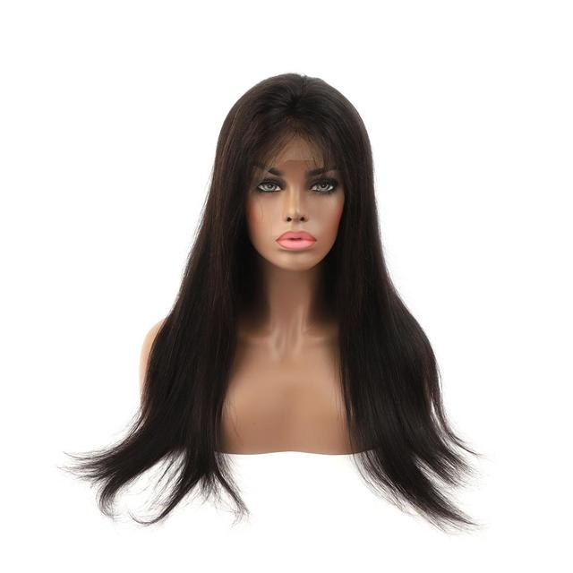 KS PERÜCKEN 14  22 Gerade Natürliche Schwarz Spitze Vorne Perücke Pre Gezupft Haaransatz Mit Baby Haar 150% dichte Remy Haar Perücke