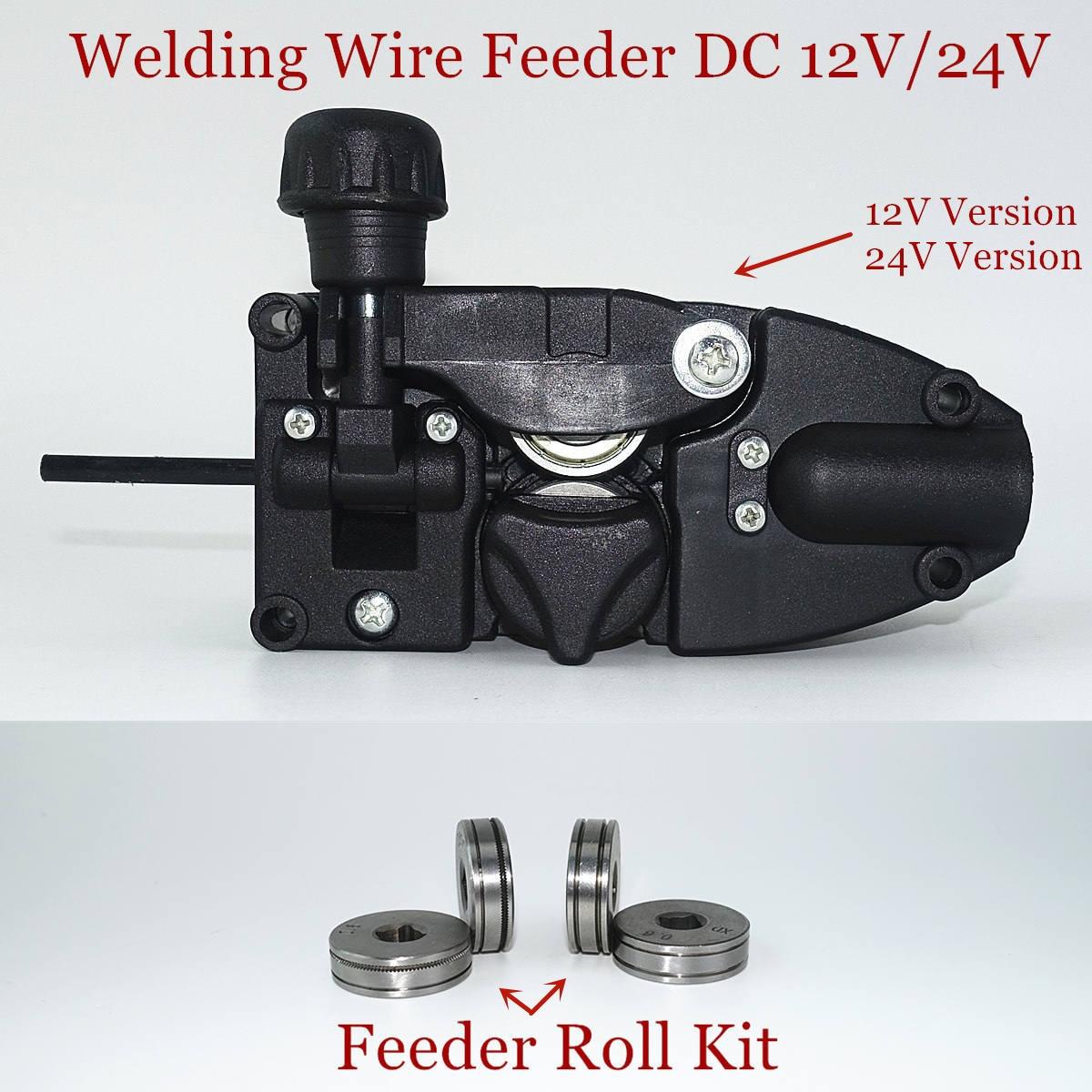 Welding Wire Feeder DC 12V 24V Wire Feeding Assembly SSJ-16 V K Groove Feeder Roll For MIG Welder Welding Machine