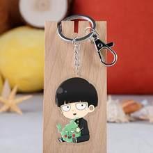 Japão Anime Mobu Saiko Hyaku Mob Psico 100 Keychain Acrílico Transparente Pingente Mochila Decoração