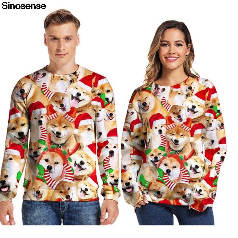 Cool Men Christmas Suit Pattern 3D Print Full  Hoodie Caps Sweatshirt Pullover