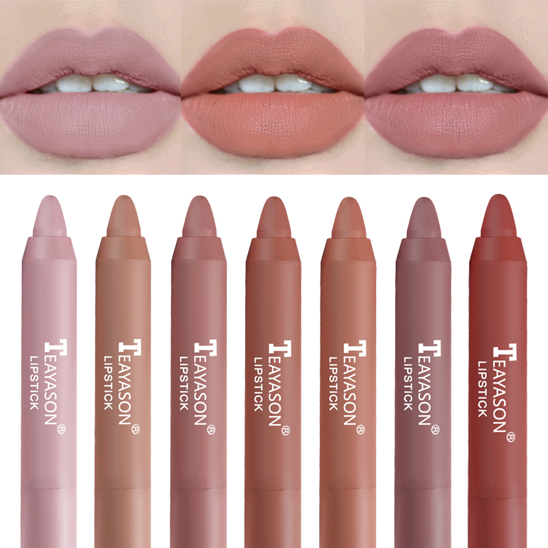 12 Colors Velvet Matte Lipsticks Pencil Waterproof Long Lasting Sexy Red Lip Stick Non-Stick Cup Makeup Lip Tint Pen Cosmetic