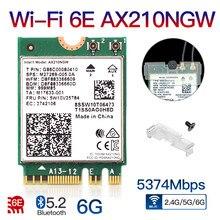 2400mbps wifi 6 ax210 ngff m.2 wifi cartão bluetooth 5.2 wi-fi 6e adaptador de rede sem fio 2.4ghz/5g 802.11ax para windows 10 linux