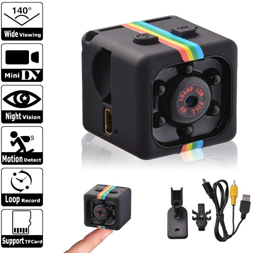 Мини-камера Sq11 HD 1080P, датчик ночного видения, видеокамера, видеорегистратор движения, микро-камера, Спортивная DV видео, маленькая камера, кам...