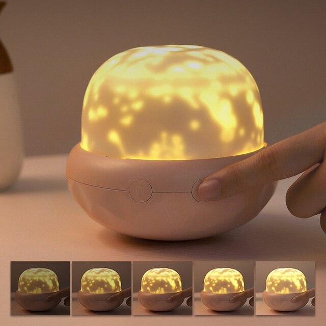 Фото волшебный вращающийся проектор ночник украшение для спальни