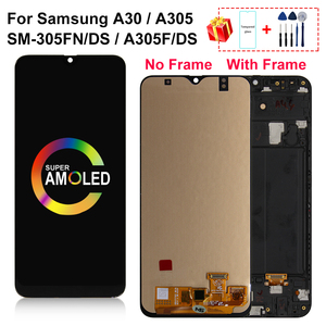 """Image 1 - 6.4"""" AMOLED For Samsung galaxy A30 LCD A305/DS A305F A305FD SM A305FN/DS Display Touch Screen Digitizer For A305A Assembly Part"""