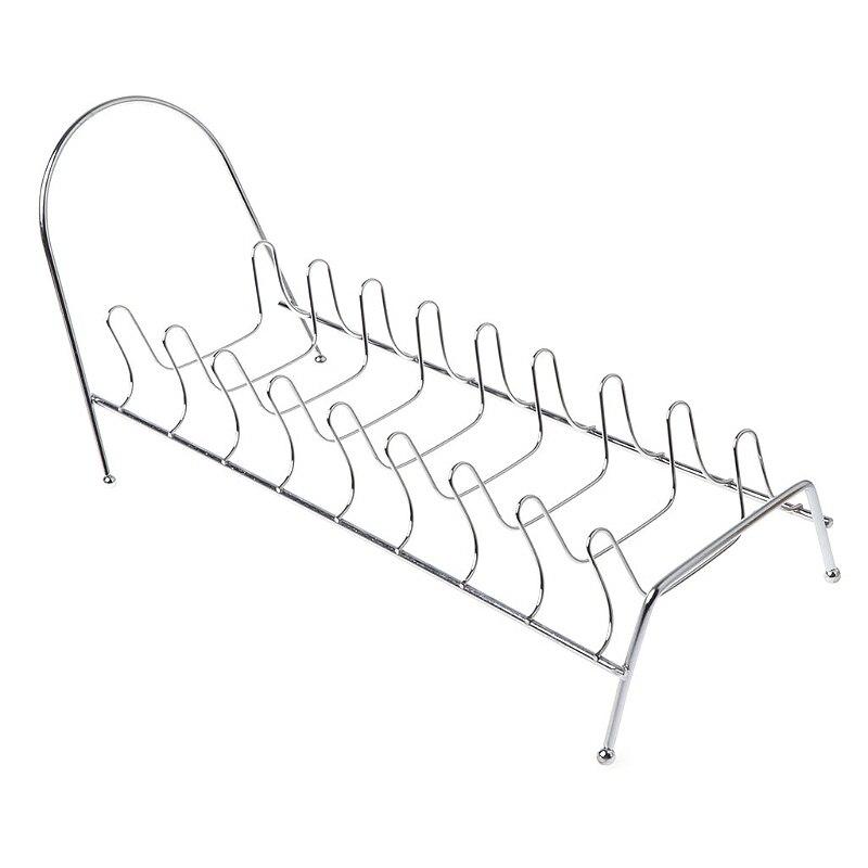 Plate Organizer 7 Slots Chrome Plated Dish Racks Countertop Drying Stand