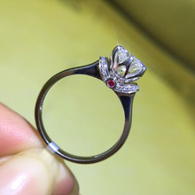 925 Sterling Zilver 1ct 2ct 3ct Ronde Cut Crown Diamond Paars Sieraden Moissanite Ring Wedding Party Anniversary Ring
