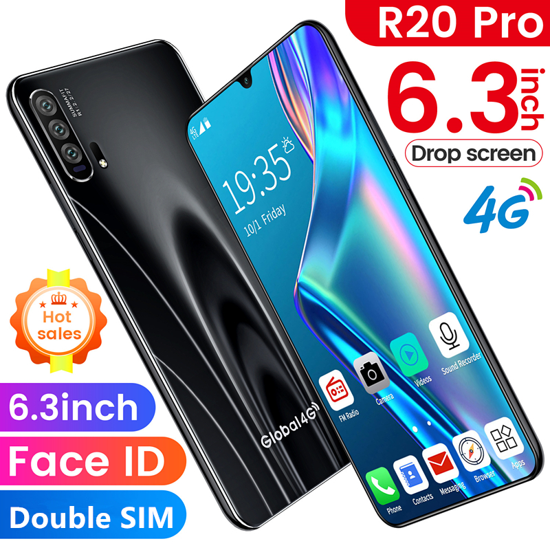 R20 1GB+16GB Smartphone Android 4G Cellphones Global Version 6.3 Inch Dual Sim Unlocked Mobile Phone Water Drop Screen