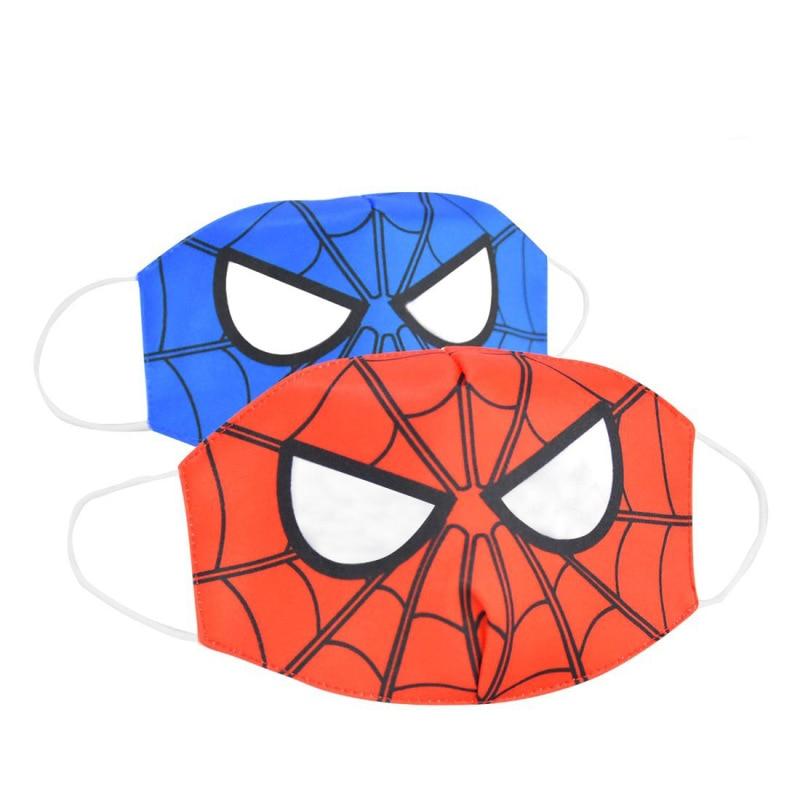 2020 Cartoon Spiderman Mask Women Men Kids Cotton Breathable Auti-Dust Half Mouth Face Masks Supplies ZXT220