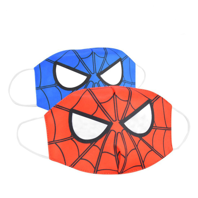 2020 New Cartoon Spiderman Mask Women Men Kids Cotton Breathable Auti-Dust Half Mouth Face Masks Supplies ZXT220 1