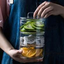 Прозрачная миска для хранения фруктов 430 мл контейнер десертов