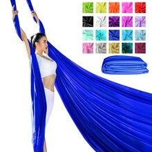 Anterior de fitness 6 metros yoga sedas aéreas tecido para acrobático fly yoga balanço dança seda antigravidade hammock