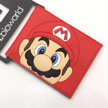Carteira de cartão de crédito de bolso de moeda dos desenhos animados foto titular do cartão carteira menino e menina