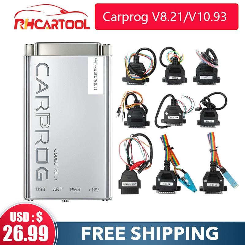 Accessori auto OBD2 Carprog V10.05 V10.93/V8.21 Car Prog ECU Chip Tunning strumento di riparazione auto Carprog con tutti gli adattatori