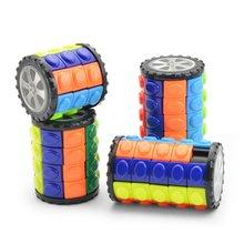 3D вращение слайд цилиндр магия куб красочный Вавилон башня стресс облегчение куб дети головоломка игрушки для детей взрослых сенсорные игрушки