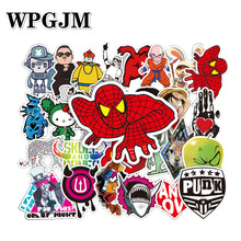 50Pcs Classics Sticker Cute Cartoon Stickers Scrapbooking for Luggage Laptop Notebook Car Motorcycle Toy Phone
