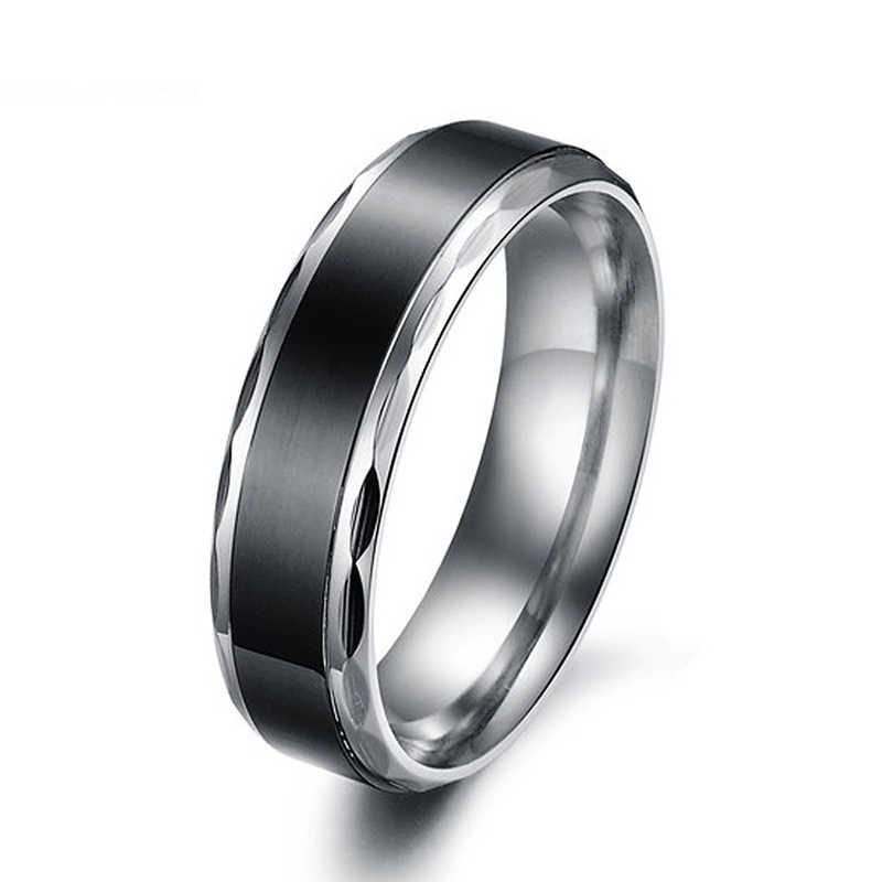 ใหม่แฟชั่น Punk แหวนไทเทเนียมเหล็กผู้หญิงผู้ชายคู่แหวนคนรักเครื่องประดับหมั้นแหวนบุคลิกภาพแหวนของขวัญ