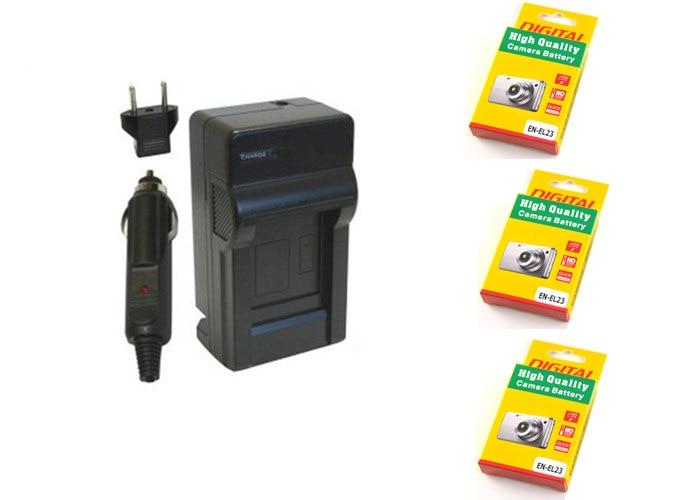 Ladegerät // Dual-Ladegerät EN-EL23 für Nikon Coolpix P600 P900 S810c P610