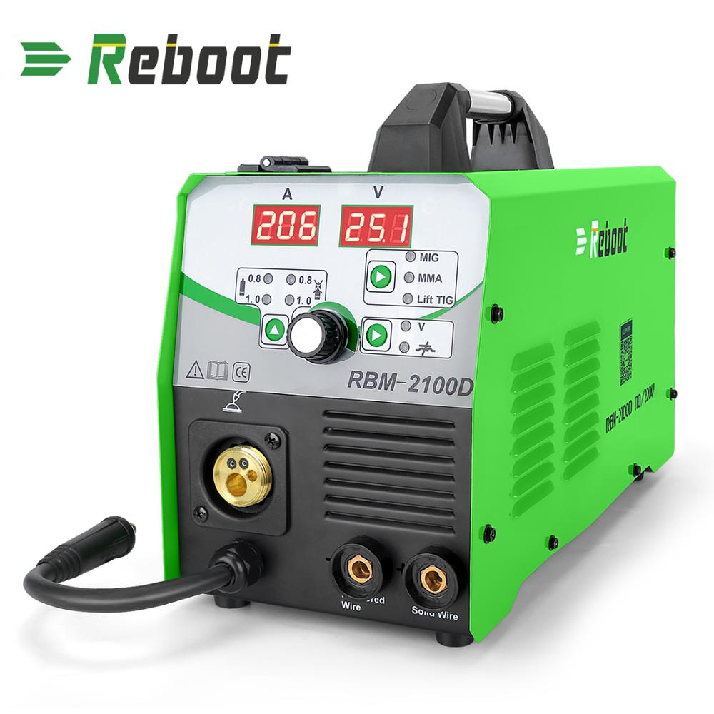 REBOOT MIG Welder 180A Gas and Gasless MIG Stick Lift TIG Welder 4 in 1 Flux Core  Solid Wire MIG Inverter Welding Machine