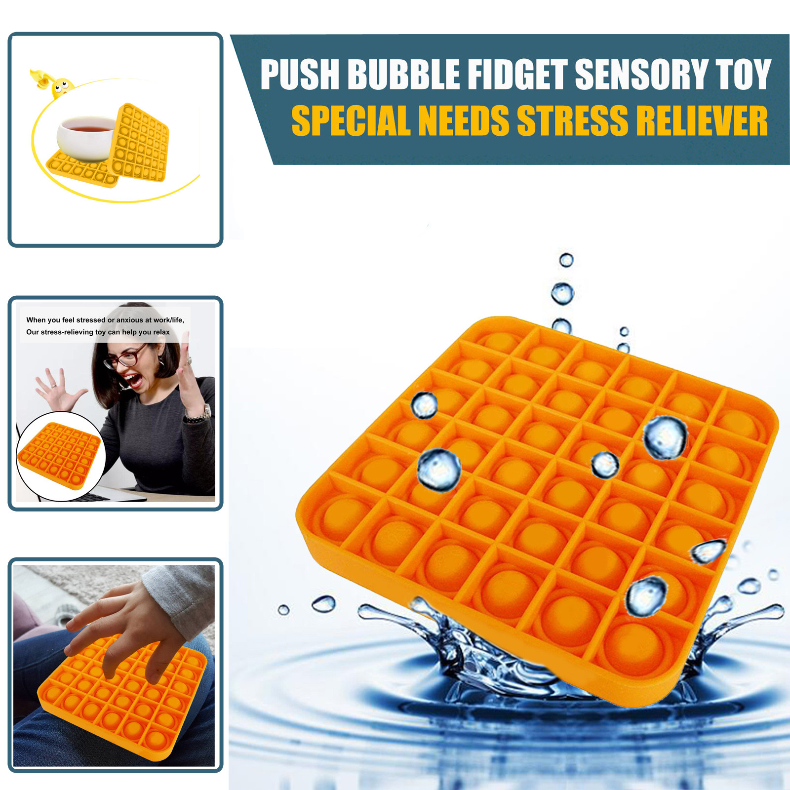 Bubble-Sensory-Toy Fidget-Toys Autism Adhd Popit-Stress Special Needs Squishy Reliever img5