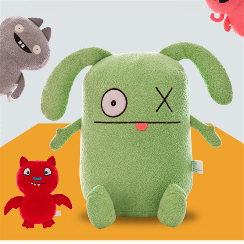 New Movie Ugly Dolls Figuras Cartoon Plush Dolls Moxy Wage BaBo Uolydog Ox Cute Stuffed Soft Toy For Boys Girls Gift 33/49CM