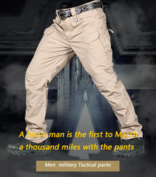 IX7 Autumn/Winter Men Tactical Pant Multiple Pockets Pants Outdoor Wear-resistant Training Hiking Mountaineering Sports Trousers