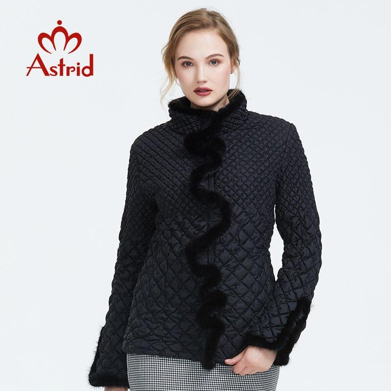 استريد 2019 الخريف جديد وصول المرأة سترة قميص عالية الجودة قصيرة نمط جديد أزياء الخريف معطف المرأة AM 8828-في سترات فرائية مقلنسة من ملابس نسائية على  مجموعة 1