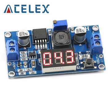 Free Shipping LM2596 BUCK 3A DC-DC Voltage Adjustable Step-Down Power Module + Blue LED Voltmeter