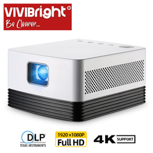 VIVIBRIGHT Full HD Projector J20, 1920*1080P, Android WIFI, 18000mAH Battery, Po