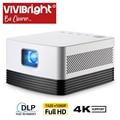 Vivibright projetor hd completo j20, 1920*1080 p, android wifi, bateria de 18000 mah, projetor dlp portátil. Suporte 4 k 3d beamer