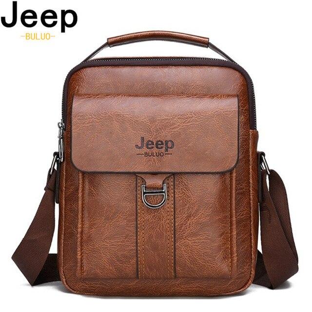 Мужская деловая сумка JEEP из искусственной кожи с ремнём на плечо и ручкой для переноски 1