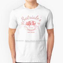 Satriale vintage t shirt 100% puro algodão satriales atender mercado sopranos soprano mafia mostrar tv mob satriales vintage