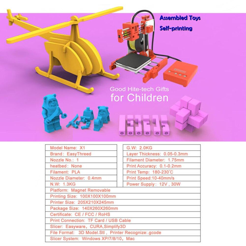 Mini Portable  Kids 3D DIY Printer for Household Education 15