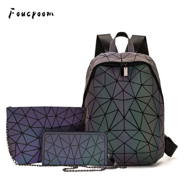 Luminous Backpacks Women Geometric Laptop Backpack 6