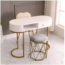 Nail art table and chair set Nordic ins online celebrity special economic single and double nail art table paint postage iron