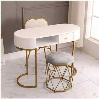 Nail art table and chair set Nordic ins online celebrity special economic single and double nail art table paint postage iron - DISCOUNT ITEM  26 OFF Furniture