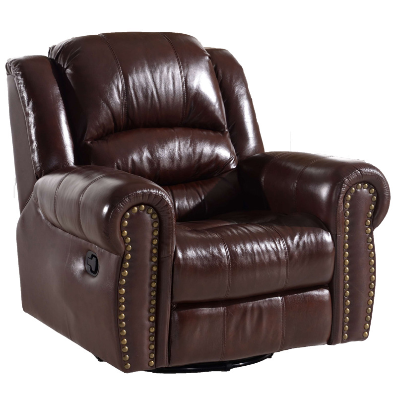 Single Bonded Leather Recliner Sofa
