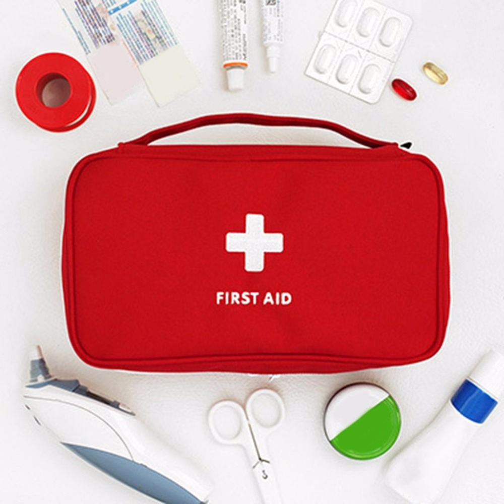 Купить с кэшбэком Portable Camping First Aid Kit Empty Emergency Medicine bag Outdoor Survival Travel set First Aid Bag Household Storage package