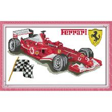 Joy Sunday Ferrari Counted Cross Stitch Kits 11&14CTDIY Cross Stitch Embroidery Needlework Kits for Home Decor Handmade DIY Gift joy sunday sweetnessand poetic counted cross stitch 11