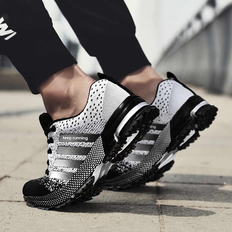 MARSON hommes chaussures décontracté hommes baskets maille respirant 2019 nouvelle mode baskets confortable antidérapant grande taille mâle toile chaussures