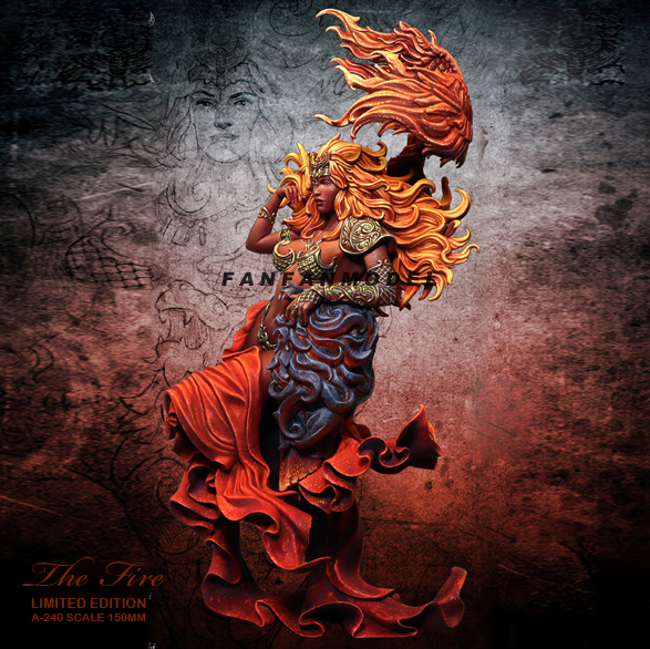 Фото 150 мм наборы фигурок из смолы модель «пламенная королева» самособранная цена