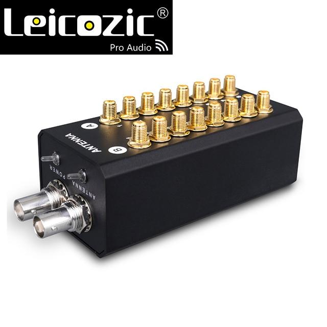 Leicozic 8チャンネル信号アンプアンテナ分配システムオーディオrf販売代理店記録インタビューワイヤレスmicrofone