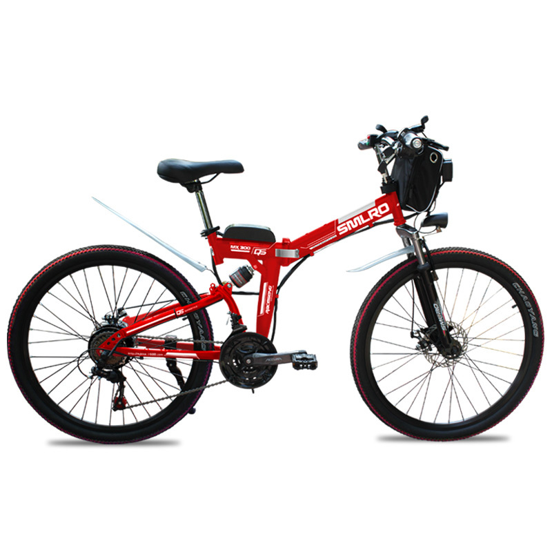 MX300 2019 New Design 350W/500W/750W/1000W 48V 10AH/13AH electric bicycle 26 inch folding electric bike with high quality 1