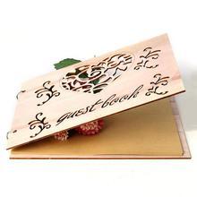 Libro de invitados de boda regalo para parejas Libro de Visitas rústico ducha nupcial regalo Vintage boda libro de madera