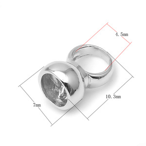 Image 3 - 4 Stks/partij 10*7Mm 925 Sterling Zilver End Caps Diy Fijne Sieraden Accessoires Bevindingen Voor Parel Ketting Armband maken SC CZ085