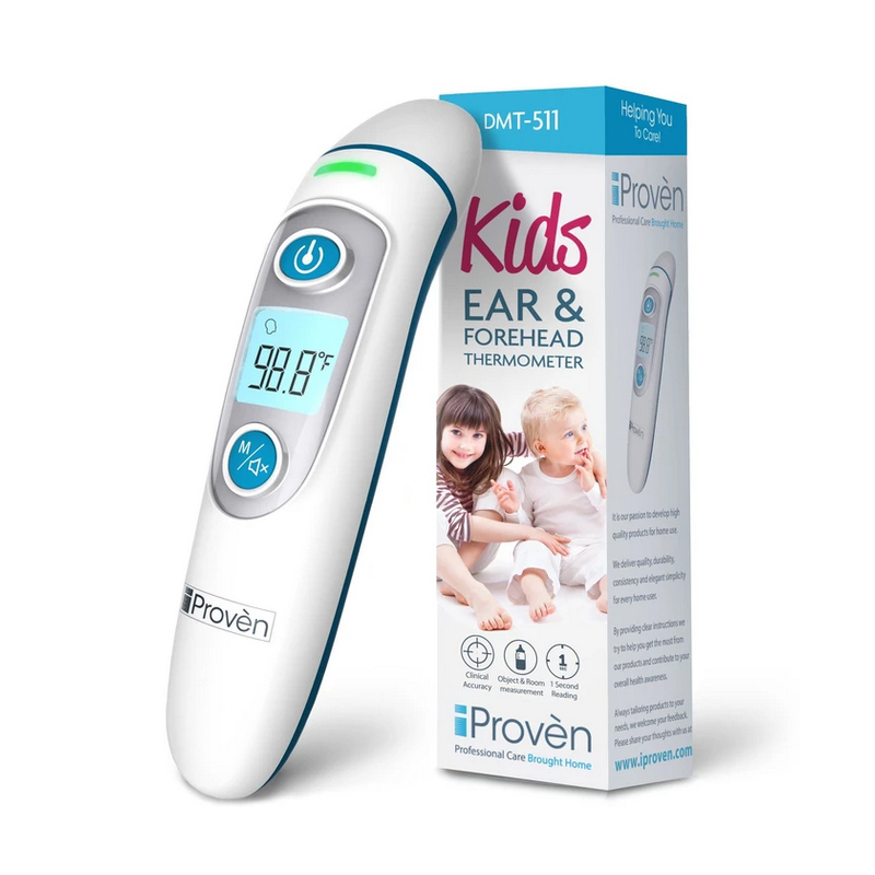 Digital Thermometer for Ear and Forehead - Fast Reading 1 Second with Fever Alarming Kids Adults Infrared Thermometer