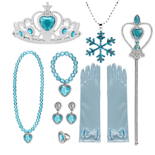 Elsa Wig Gloves Jewelry-Set Dress Clothing Wand Crown Elsa-Accessories Snow-Queen Girls